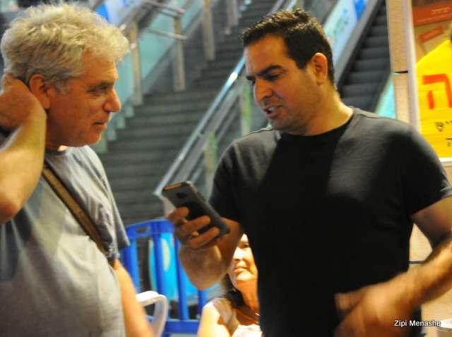 מני נפתלי ואיתי נבו - עורך סרטי הדוקמנטציה לשעבר בערוץ 1 (צילום: ציפי מנשה)