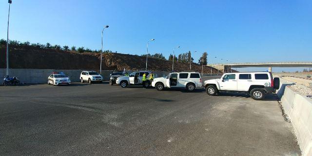 בוצעו חסימות  (צילום: דוברות משטרת ישראל)