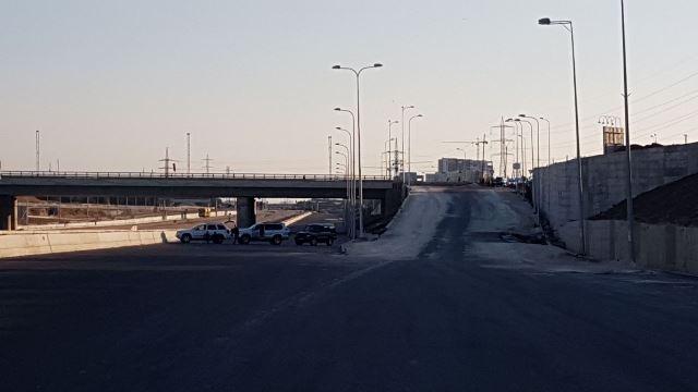 הכניסה לכביש 20 (צילום: דוברות משטרת ישראל)