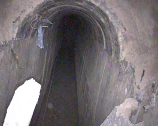 """המנהרה (צילום: דובר צה""""ל)"""