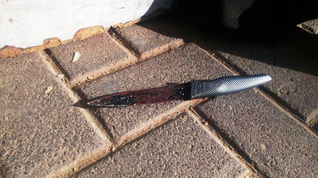 סכין הדקירה (צילום: משטרת ישראל)