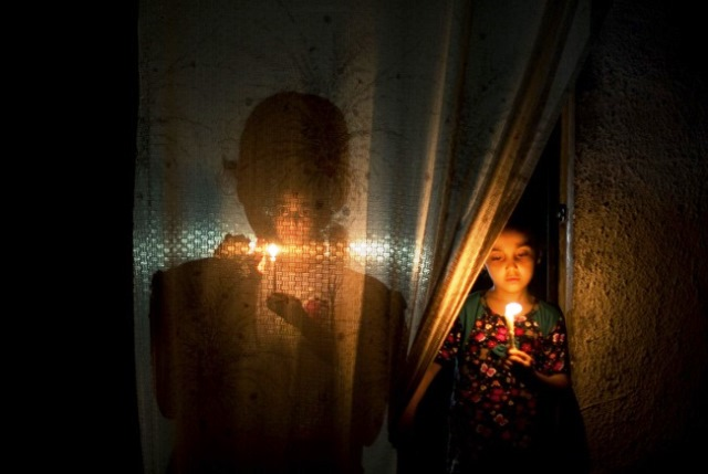 עזה בחושך - צילום מוחמד עיסא