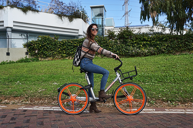 """אופניים שיתופיים של  MOBIKE באוניברסיטת ת""""א"""