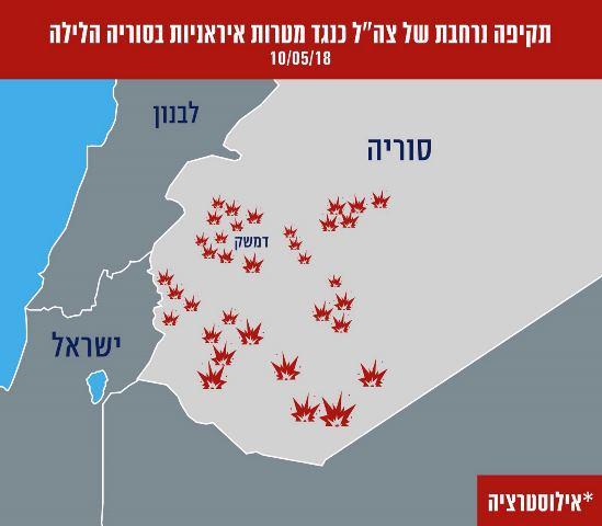 מפת אזורי התקיפה