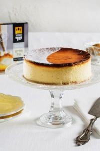 עוגת גבינה אפויה בניחוח וניל (צלם: אסף אמברם)