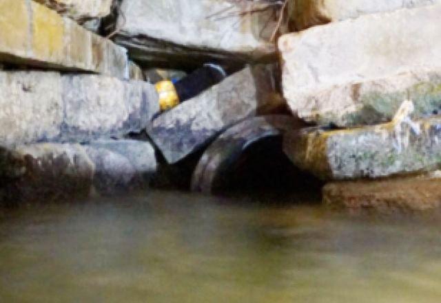"""פתח המנהרה המוסתר (צילום: דובר צה""""ל)"""