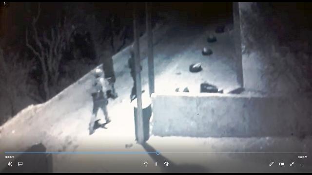 מבצעי פשע השנאה (צילום מסרטון מצלמות האבטחה)