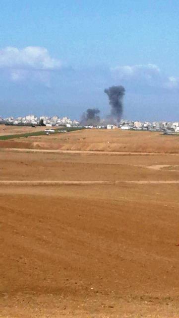 תקיפות חיל האוויר הבוקר (צילום: דנה ברנס - קבוצת מבזק חדשות)