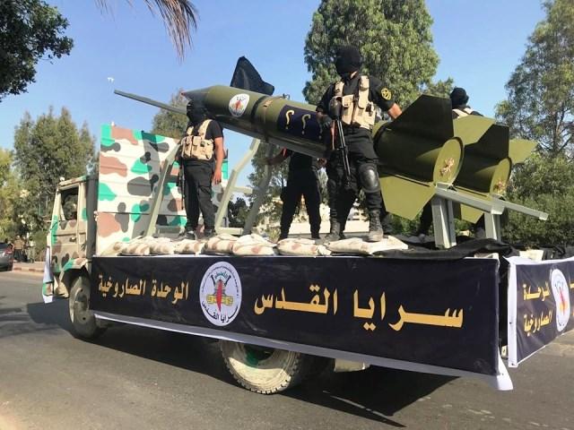 מצעד ראווה של החמאס (צילום: gazaalan net )