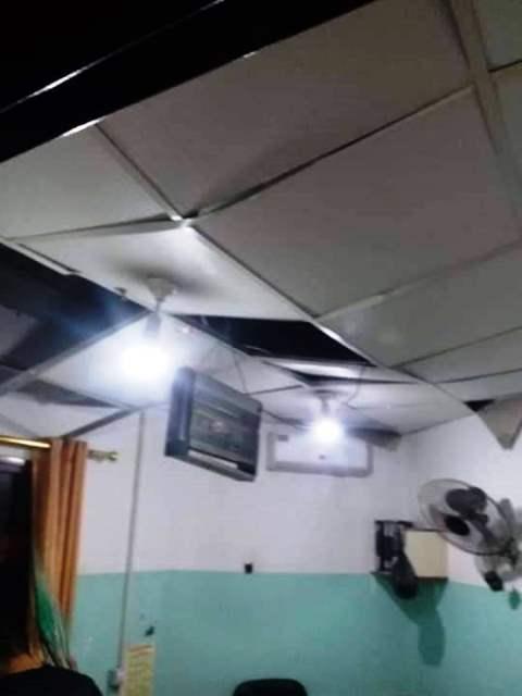 """הנזק שנגרם לבית החולים האינדונזי """"שיפע"""", לטענת הפלסטינים (צילום: Gza now)"""