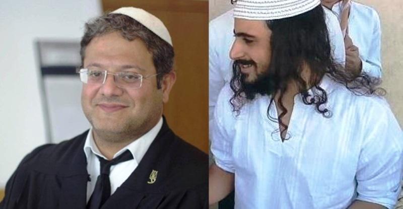 """מימין ינון ראובני (צילום מסך הקול היהודי) משמאל עו""""ד בן גביר (צילום מדף הפייס בוק שלו)"""