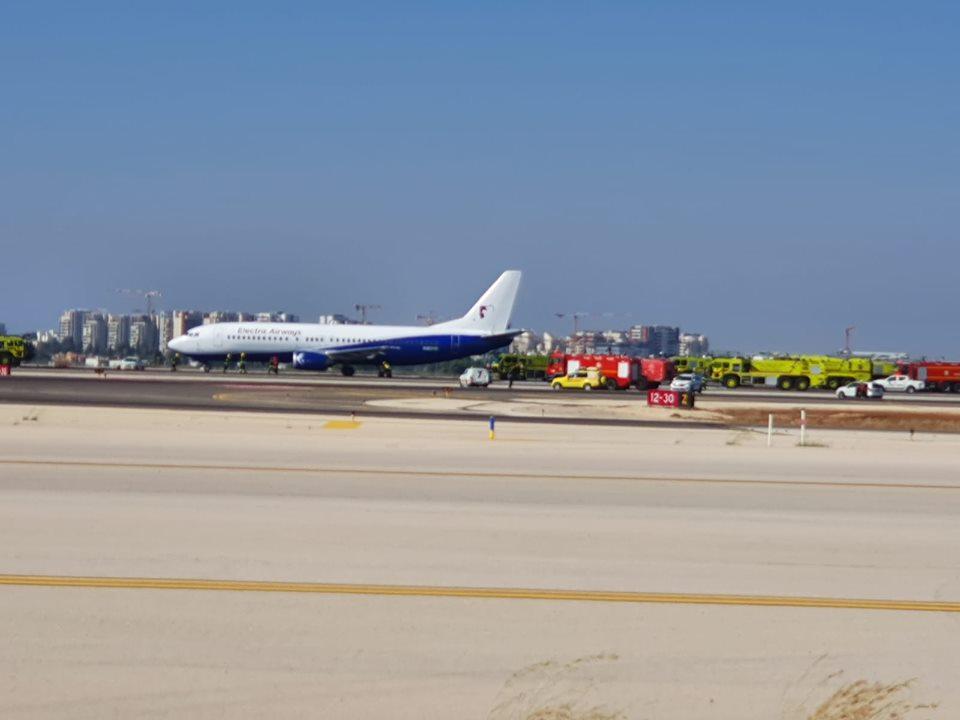 המטוס הבולגרי נחת בלום. צילום: רשות שדות התעופה