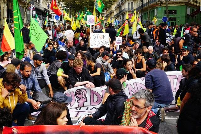 ההפגנה במרסי (צילום: עמית מנדלזון)