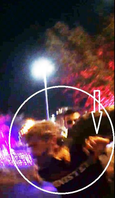 האגרוף בפני העצור ( צילום מתוך הסרטון)
