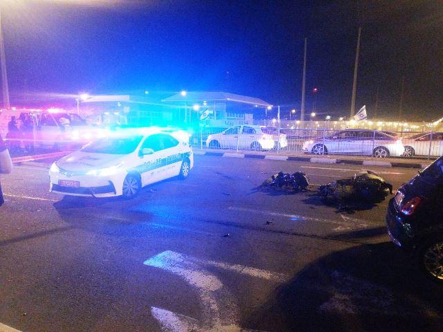 """זירת התאונה (צילום: צילום מבצעי מד""""א)"""