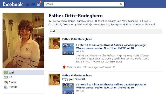 עמוד הפייסבוק של אסתר אורטיז-רודגרו