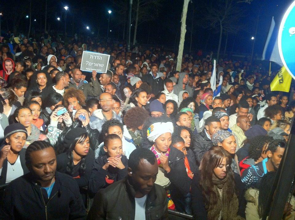 אררו בהפגנה נגד הגזענות: אני ישראלי. ישראלי ממוצא אתיופי