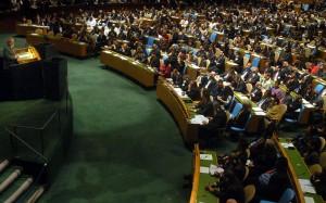 """מליאת הוועידה הכללית של האו""""ם (צילום: Agência Brasil)"""