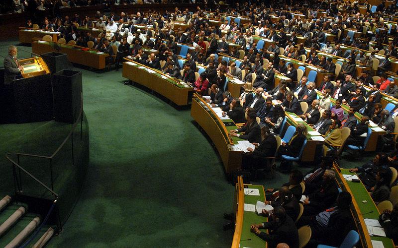 """גינוי בעצרת הכללית של האו""""ם לסוריה; רוסיה וסין ממשיכות להתנגד"""