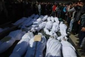 בעיר חומס נערמות גופותיהם של הרוגי ההפגזות מהימים האחרונים