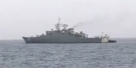 אחת הספינות האיראניות במימי הים האדום