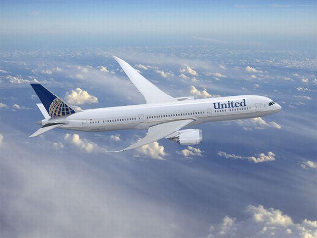 מטוס של חברת יונייטד. יקר יותר לטוס