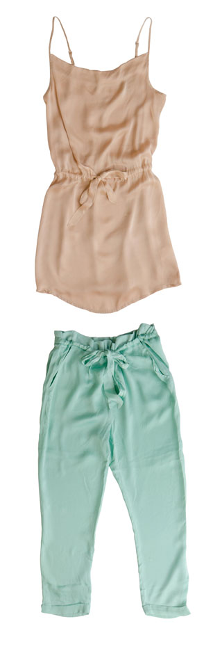 גופיה בצבע nude עם מכנסיים בצבע מנטה
