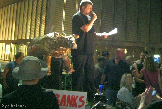 הפגנה נגד הבנקים 17.9.11