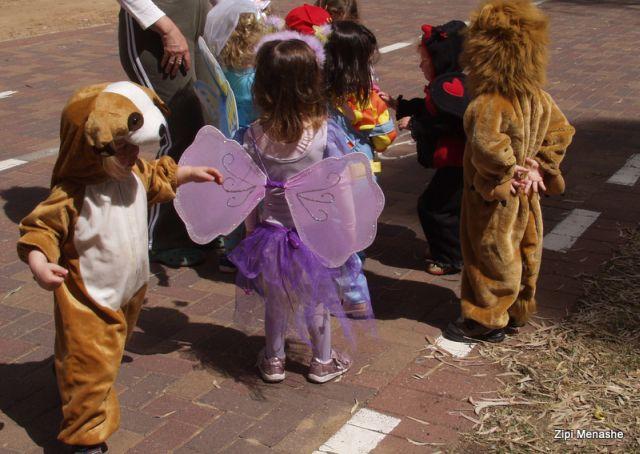 ילדים מחופשים לבעלי חיים (צילמה: ציפי מנשה)