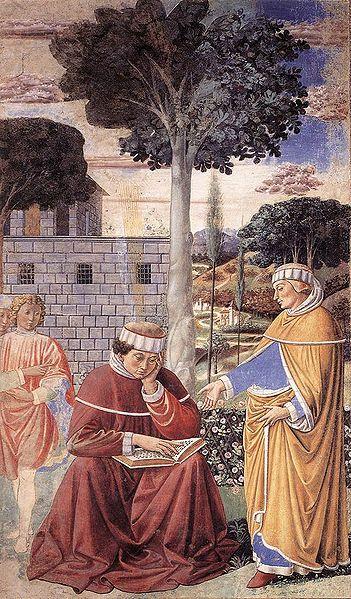 המרתו של אוגוסטינוס, ציור מן המאה ה-15 מאת גוצולי (צילום: ויקימדיה)