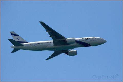 מטוס אל על. צילום גיגה פרקול