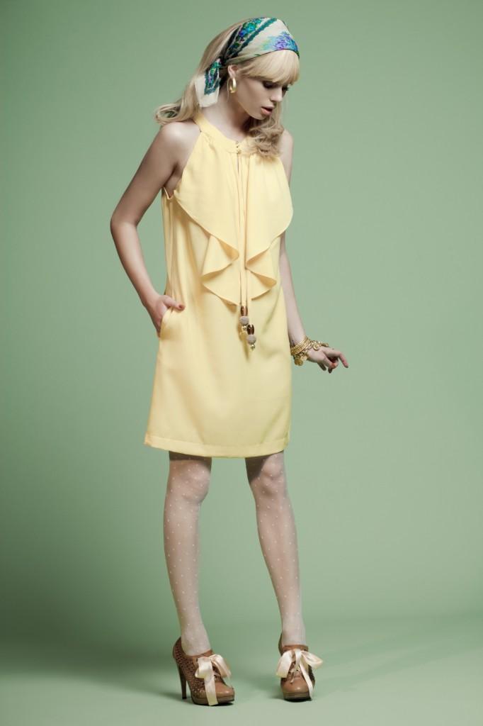 שמלת פסטל צהובה של MADE BY LILAMIST