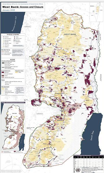 """מפה מפורטת של יו""""ש ששורטטה על ידי האו""""ם (צילום: ויקימדיה)"""
