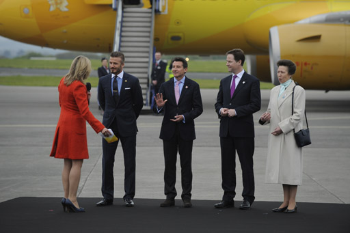 Arrival of the Olympic Flame. Photo: London 2012