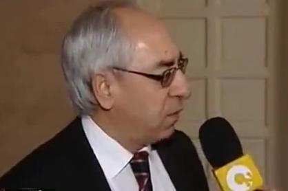 ראש המועצה הלאומית הסורית הנבחר, עבד אל-באסט סיידה בריאיון טלוויזיוני