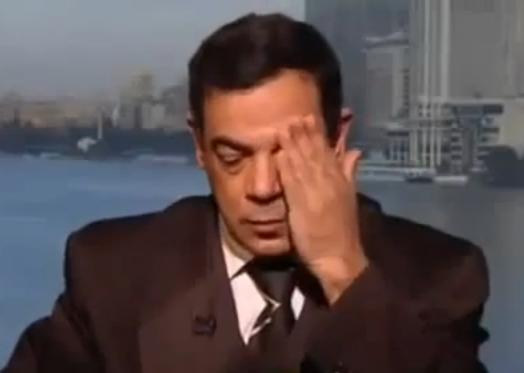 העיתונאי עאדל אל-גורגי, שניות לפני מותו באולפן ערוץ הטלוויזיה העיראקי