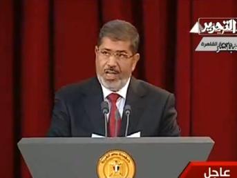 """""""צורך בשת""""פ בין מצרים, טורקיה, ערב הסעודית ואיראן לפתרון המשבר בסוריה"""". מורסי"""