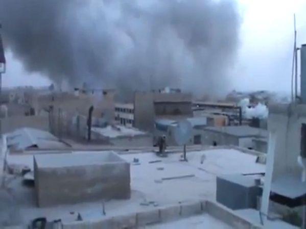 חאלב המופגזת על ידי הצבא הסורי