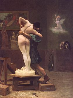 פיגמליון וגלתיאה. ציור של ז'אן-לאון ז'רום, 1890 (מקור: ויקימדיה)