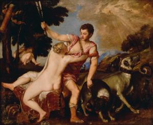 ונוס ואדוניס של טיציאן, 1554 (מקור: ויקימדיה)