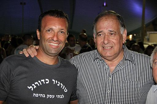 יונה רהב, ראש העיר חיפה ויאיר מלכה. צילום: גיל גולדשטיין