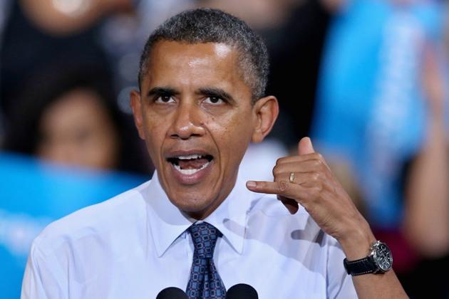 """""""יש לי את זה"""". ברק אובמה (צילום: גטי אימג'ס)"""