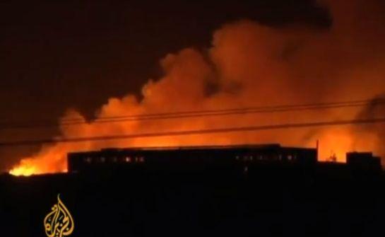 מתחם ירמוק שהופצץ בדרום חרטום (מקור צילום: יו טיוב).