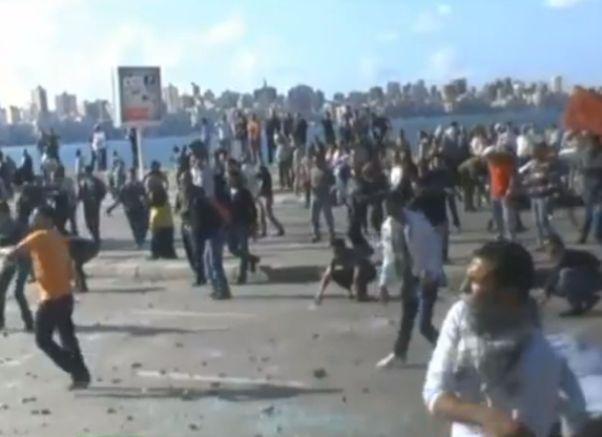 הפגנות גם באלכסנדריה (מקור צילום: יו טיוב)