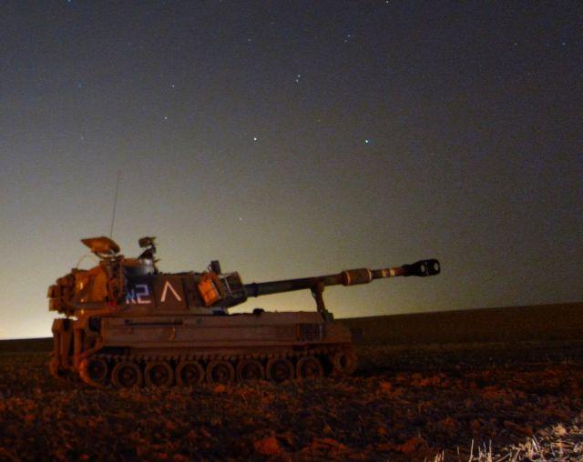 """כוחות צה""""ל בגבול הרצועה (צילום: טל ים)"""