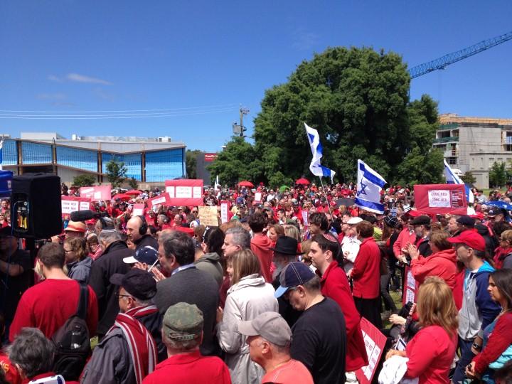 צבע אדום באוסטרליה: הקהילה היהודית הפגינה באדום