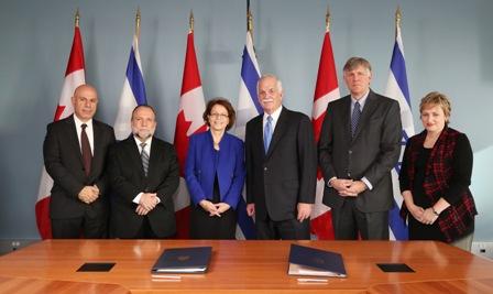 נחתם הסכם מכס בין ישראל לקנדה