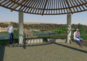 עוד פינה בפארק המתוכנן בתוך החורשה על שם דוד בן גוריון בדימונה