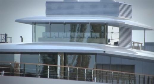 השקת היאכטה בחודש נובמבר 2012. צילום: יוטיוב