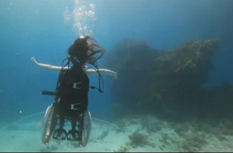 בכסא גלגלים, חוקרת את האוקיאנוס